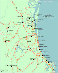 coast map of the gold coast