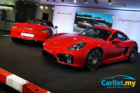porsche boxster 2015 price porsche malaysia launches the red 2015 boxster gts and cayman