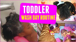 toddler hair toddler wash day routine thick 4b 4c hair