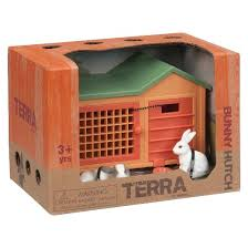 Rabbit Hutch Plastic Terra Rabbit Hutch Animal Figure By Battat Target