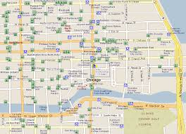 chicago map with attractions bachelier finance society third world congress chicago tourist