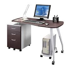 modern glass desk with drawers cool modern office desks for small spaces offer glass top design