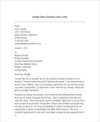 cover letters for dance teachers cover letter templates