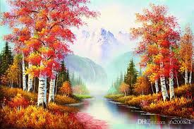 2017 amazing landscape trees high quality scenery painting