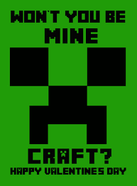 minecraft valentines cards 7 best images of printable minecraft s free printable