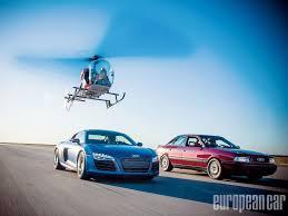 lexus vs audi r8 2014 audi r8 v10 vs 1988 audi 80 european car magazine
