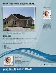 real estate flyer template u2013 blue