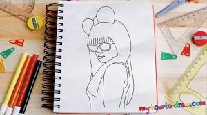 how to draw lady gaga easy step by step drawing lessons for kids