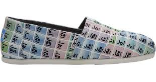 toms periodic table shoes lyst toms periodic table women s classics