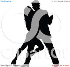 a couple dancing tango cartoon clipart vector toons funny clipart