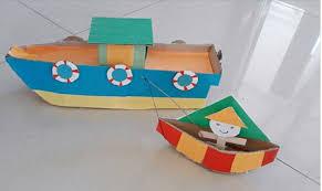 membuat mainan edukatif dari kardus kreasi miniatur kapal dari kardus bekas dunia belajar anak