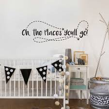 Dr Seuss Nursery Wall Decals by Oh The Places You U0027ll Go Decal Kiss Cut Dr Suess Wall Quote