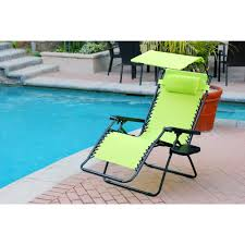 Zero Gravity Outdoor Chair Furniture Charming Zero Gravity Chair With Green Seat And Black
