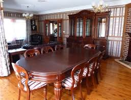 good looking decorating ideas using oval brown wooden tables and