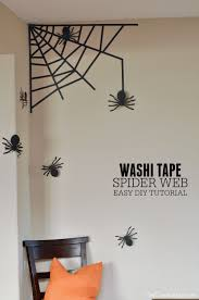 Washi Tape Home Decor Washi Tape Spider Web For Your Wall Easy Diy Tutorial