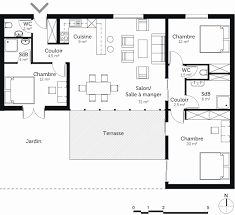 plan maison 80m2 3 chambres 120m2 house plans best of astounding normal house plans s