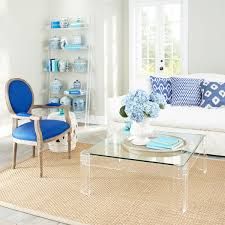 Glass Living Room Table by Lucite Coffee Table For Minimalist Room Design Home Furniture