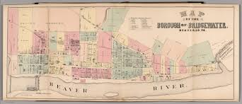 Media Pa Map Map Of The Borough Of Bridgewater Beaver Co Pa David Rumsey
