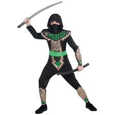 japanese dragon ninja warrior childrens boys fancy dress costume