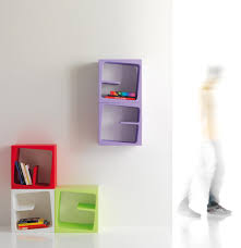 modular versatile bookcase in catchy colors quby by b line