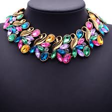 multi statement necklace images The blooming statement necklace multi color charmed to perfection jpeg