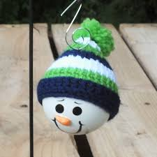 seahawk inspired snowmen ornaments creekside creations