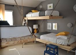 Fascinating Pallet Bunk Beds 17 Pallet Loft Beds How To Build by Hanging Bed Frame 37 Smart Diy Hanging Bed Tutorials And Ideas To