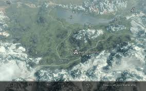 Skyrim World Map by Map Markers Cities Elder Scrolls Skyrim Ui Mods Images
