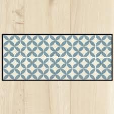 tapis cuisine cuisine carreaux ciment bleu