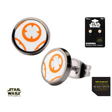 wars earrings wars episode 7 bb 8 lead droid stud earrings