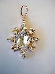 Chandelier Gold Earrings Rose Gold Crystal Chandelier Earrings The Crystal Rose Bridal