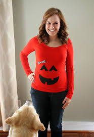 pregnant halloween shirt carolina charm diy pumpkin shirt