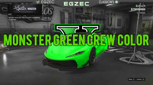 best green colors gta 5 online best rare modded crew color 1 monster green hd
