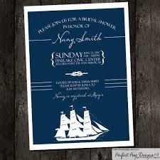 Nautical Bridal Shower Invitations Bridal Shower Invitation Nautical Theme Navy Blue And White Boat