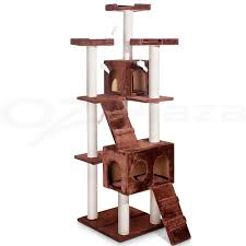 Cat Condos Cheap Cat Tree Scratching Post Scratcher Pole Gym Toy House Furniture