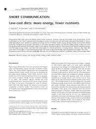 cot cuisine julie andrieu low cost diets more energy fewer nutrients pdf available