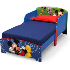 Mickey Mouse Bedroom Furniture by Mickey Mouse Wooden Toddler Bed Walmart Com