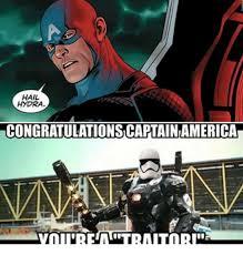 Hail Hydra Meme - hail hydra congratulationscaptainiamerica star wars meme on me me