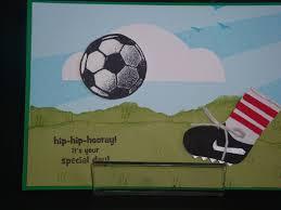 show me the love soccer card boys birthday card