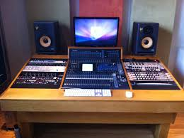 Recording Studio Desk Design by The Bridges Audient Asp4816 Mixing Desk Yamaha Ns 10m Studio And