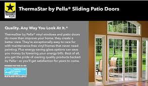 Energy Star Patio Doors Pella Vinyl Sliding Patio Doors