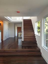 Staircase Ideas Near Entrance Walnut Stairs To The Studs