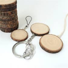wedding favor keychains shabby chic wooden keychain diameter 3 5cm wood key chain
