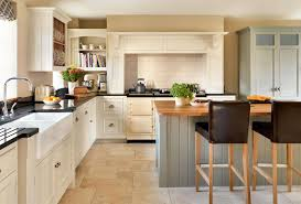 an open plan kitchen with a pantry period living