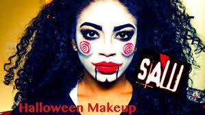 saw billy the puppet halloween makeup tutorial jasmeannnn youtube