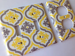 Yellow Bathroom Decor by Yellow Gray Moroccan Quatrefoil Double Light Switch Cover