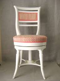 Swivel Vanity Chairs by Reserved For Ariana Hand Painted Vintage Vanity Stool Vanity Bench
