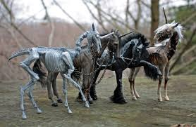 check out these creepy u0027four horsemen of the apocalypse u0027 unicorns