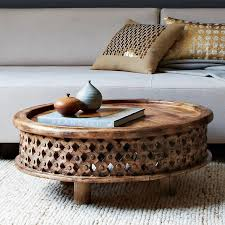west elm round coffee table carved wood coffee table west elm