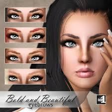 sims 3 custom content hair the sims eyebrows eyelashes facial hair images on sim creation